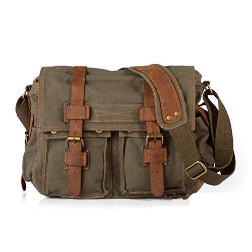 sechunk-unisex-canvas-genuine-leather-cross-body-bag-handbag-army-green