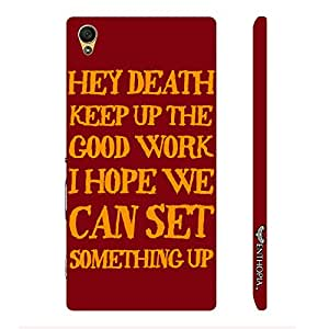 Sony Xperia Z5 Dual Message to Death designer mobile hard shell case by Enthopia