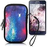 """kwmobile Funda de neopreno para móvil para smartphones M - 5,5"""" - Funda para smartphone carcasa protectora con Diseño universo multicolor rosa fucsia negro"""