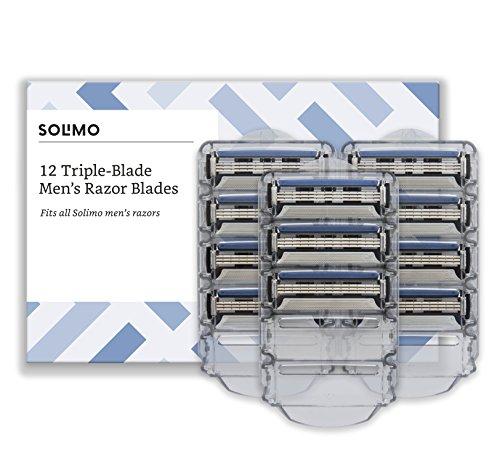 Amazon-Marke: Solimo 3-fach-Klingen für Herrenrasier (12 Stück)