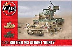Airfix A1358 M3 Stuart Honey Military Vehicle (British Version)