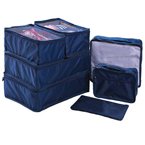 Ewparts 7 unidades bolsas impermeables nylon organizador de viajes, or