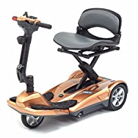 Pro Rider Travelite Electric Folding Compact Mobility Scooter, Copper