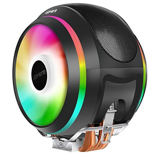 UpHere 4pin PWM LED Rainbow CPU Cooler Ventilador