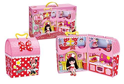 I love Minnie- Minnie Mouse Casa con maletín y muñeca, 55.1 x 35.1 x 12.7...