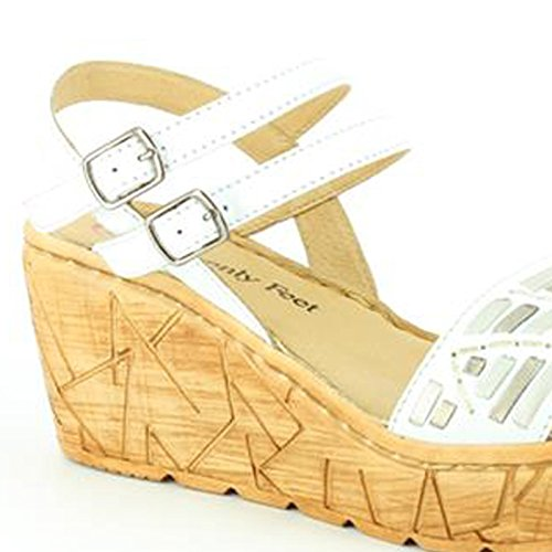 Heavenly Feet  Heavenly Feet Sage White Sandals, Sandales pour femme Blanc