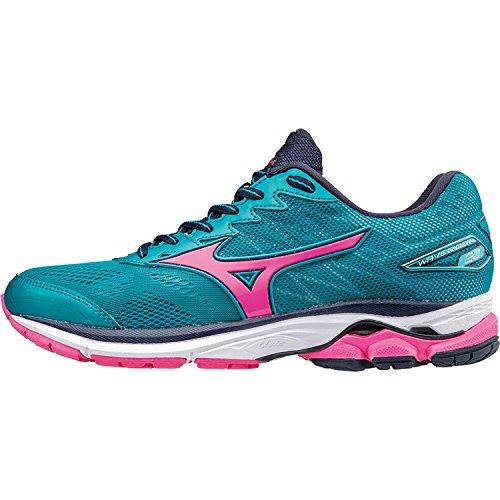 Nuevo Mizuno Wave Rider 20 Womens Running Shoes Calzado Deportivo Teal