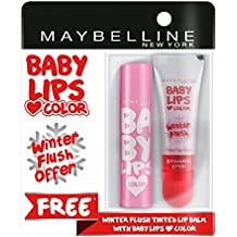 Maybelline New York Baby Lips, Winter Flush, 4.4g and Baby Lips, Pink Lolita, 4g