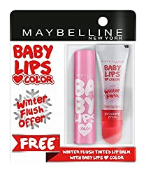 Maybelline New York Baby Lips, Winter Flush, 4.4g and Baby Lips, Pink Lolita, 4g
