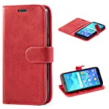Mulbess Huawei Y5 2018 Case Wallet, Leather Flip Phone Case