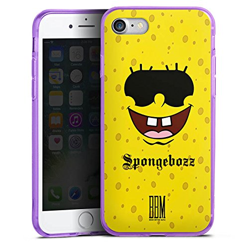 Apple iPhone 8 Silikon Hülle Case Schutzhülle Spongebozz BBM Fanartikel Merchandise Silikon Colour Case lila