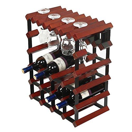 Stapelbare Modulare Weinregal-Speicher-Stand-hölzerne Wein-Halter-Anzeigen-Regale 12 Flaschen-Kapazität -