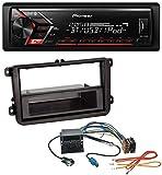 caraudio24 Pioneer MVH-S300BT MP3 Bluetooth AUX USB Autoradio für VW Passat 05-10 Polo 09-14 Scirocco ab 08