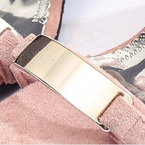 Sandali da donna Casual Wedge Heel, nero, grigio, rosa b