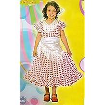 Disfraz Sevillana. Niña. Talla 2/4 años. Contiene: Vestido y pañuelo