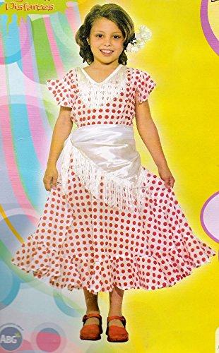 ATOSA Sevillana Kostüm Mädchen Größe 4/6 Lieferumfang: Kleid und Halstuch