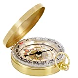 Rabi Classic portátil reloj de bolsillo Flip-Open brújula al aire libre herramientas de navegación para Camping senderismo Boating oro