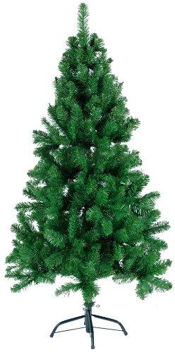 Best Season 607-93 Nebraska - Árbol de Navidad (150 x 84 cm, 390 consejos, pie metálico, para exteriores), color verde