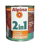 ALPINA 2in1 Parkettsiegel & Grundierung 2 L. Klarlack, Treppen, Möbel Farblos Sm