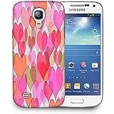 Snoogg Corazones de Color de la luz Funda Carcasa de diseño para Samsung Galaxy S4Mini i9190