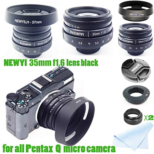Dkings Newyi 35mm f / 1.6 CCTV-Mini-Objektiv für alle Pentax-PQ-Montierungs-Mirro-Kamera- und -Haubenadapter - Q10 Pentax