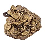 Feng Shui Money Lucky Oriental Chinese Three Leg I Ching Coin Frog Toad W Free Mxsabrina Red String Bracelet D1032 by juanxian