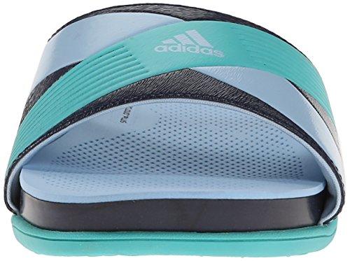 Adidas Performance Supercloud plus Diapositive W Athletic Sandal, noir / argent / clair Gris, 5 M Us Collegiate Navy/Vivid Mint/Clear Sky