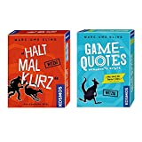 KOSMOS 2er Set 692926 740382 Game of Quotes + Kartenspiel Halt mal kurz Bild