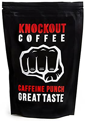 The STRONGEST Coffee on Earth, KNOCKOUT COFFEE, Caffeine Punch - Great Taste | High Quality - High Caffeine Coffee | GROUND COFFEE by Knockout Coffee