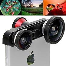 iPhone 6 Plus 4 en 1 Super Wide 0.4X + Macro + 2 x 180 Degres Fisheye Phone Photo Zoom Lens Set