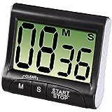 Xavax Digitaler Küchentimer (Timer-, Stopp-Uhr-Funktion, Countdown) schwarz