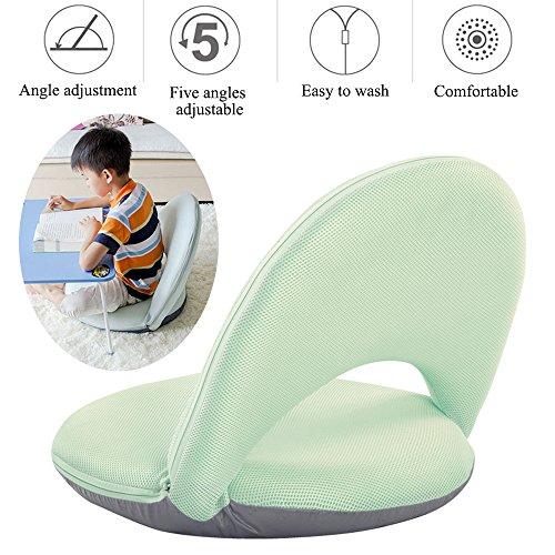AnseeDirect Bodenstuhl Faul Sofa Faltbar mit 5 Positionen Verstellbarer Waschbare Weichschaum Bodenkissen Robuster mit Feste Unterstützung Rückenlehne für Kinder Meditation Frauen Stillen -