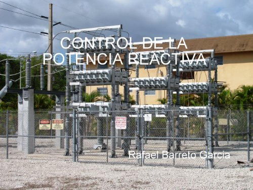 Control de la Potencia Reactiva (Distribucion de Energia Electrica nº 1)