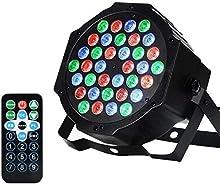 AONCO 36W Projecteur Disco Par Led Dmx Projecteur Lumière Jeu de Lumière à 36 LED Sound Auto Stroboscope Mode Lumière dj Lampe de Scène Lumière Disco Soirée Anniversaire Mariage 220V