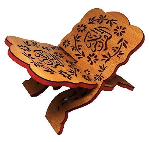 Heiligen Koran Buch Ständer Holz geschnitzt rihal faltbar Display Bibel Magazin Halter Islam Geschenk