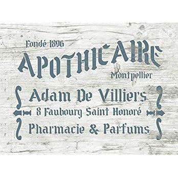 Shabby Chic Schablone Apothicaire – französische vintage Schrift