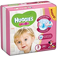 Huggies Couches pour fille, 20, taille 3(4–9kg)