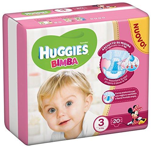 Huggies - Bimba - Pañales - Talla 3 (4-9 kg) - 20 pañales