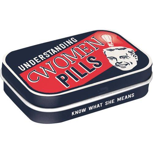Nostalgic-Art 81352  - Understanding Women Pills | Pillen-Dose | Bonbon-Box | Metall | mit Pfefferminz-Dragees