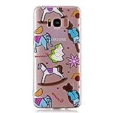 BONROY Samsung Galaxy S8 Plus (6,2 Zoll) Hülle, TPU Silikon Muster Motive Schutz Handy Hülle Handytasche HandyHülle Etui Schale Schutzhülle Case Cover, Samsung Galaxy S8 Plus (6,2 Zoll) - (WL-Puppenspielzeug)