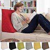 L'exceptionnel coussin cale dos pour le salon ou la chambre, pour la lecture assise décontractée. Cinq couleurs unies pour une ambiance dans le style branché de Sabeatex (Rouge)