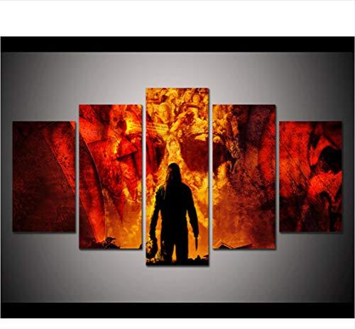 sxkdyax Kein Rahmen Drucken Sie Michael Myers Halloween Poster Moderne Wohnkultur Wand Kunstdruck Halloween Gemälde auf Leinwand Kunst