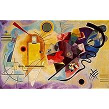 Reproduccion pintada a mano/Pintura al oleo - 24 x 15 inches / 61 x 38 CM - Wassily Kandinsky - Amarillo-Rojo-Azul