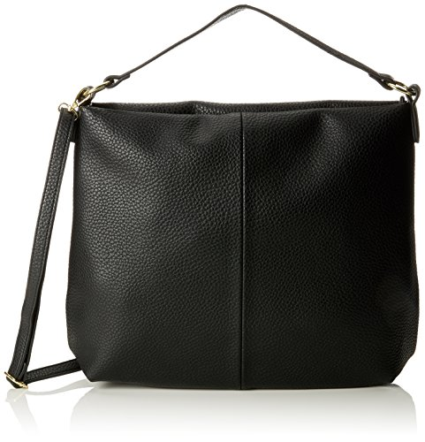 PIECES Damen Pcdominique Bag Schultertasche, Schwarz (Black), 12x40x36 cm