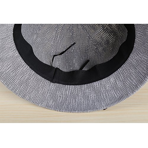 Surker Bow printemps et ¨¦t¨¦ Ladies r¨¦glable Fold Sun Hat Gris