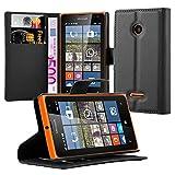 Cadorabo Book Case works with Nokia Lumia 532 in OXID BLACK