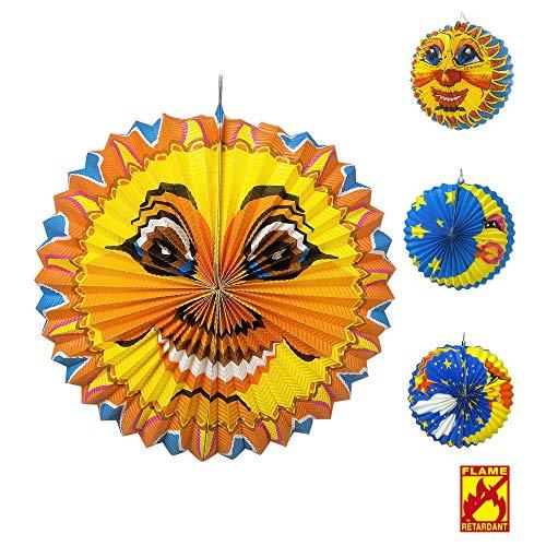 WIDMANN 2278K Globus Sonne und Mond Unisex- Erwachsene Mehrfarbig (Mond Und Sonne, Halloween Kostüm)