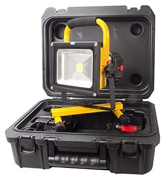 Betterlights-projecteur lED-avec batterie et chargeur dans coffret et 2 batteries, intensité 20 w variable, 6500 k, jusqu'à 1800 lm 115266