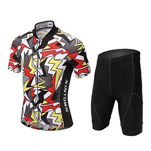 Gwell Ensemble de cyclisme pour enfant garçon, maillot...