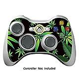 Xbox 360 Controller Designfolie Sticker - Vinyl Aufkleber Schutzfolie Skin für Xbox 360 Controller - Weeds Black